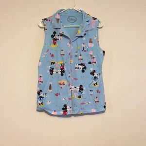 Disney Mickey Mouse button down top